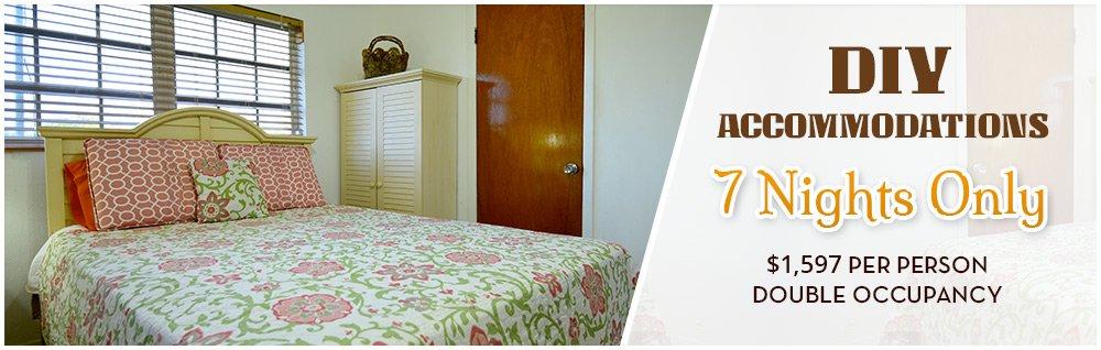 DIY Accommodations 7/Seven Nights