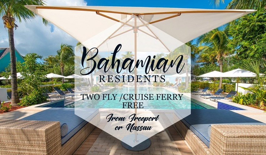 Two Fly Free From Nassau or Freeport – Residents of The Bahamas